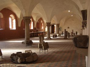 The Lapidarium with finds and things worth knowing about the architectural history of the monastery